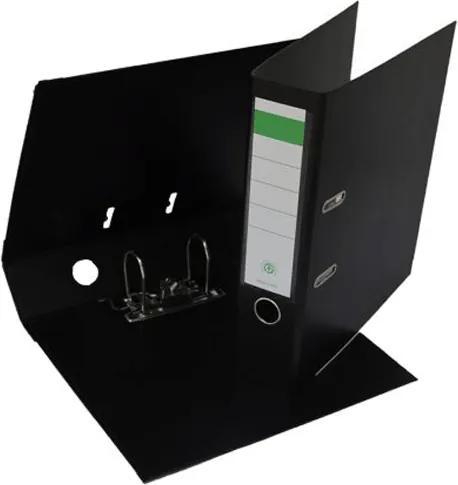 Biblioraft plastifiat PP/PP 8 cm negru