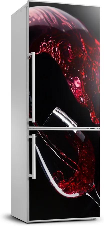 Autocolant pe frigider Vin rosu