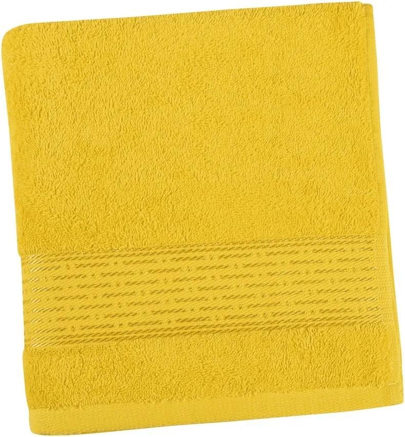 Prosop Kamilka dungă galben, 70 x 140 cm