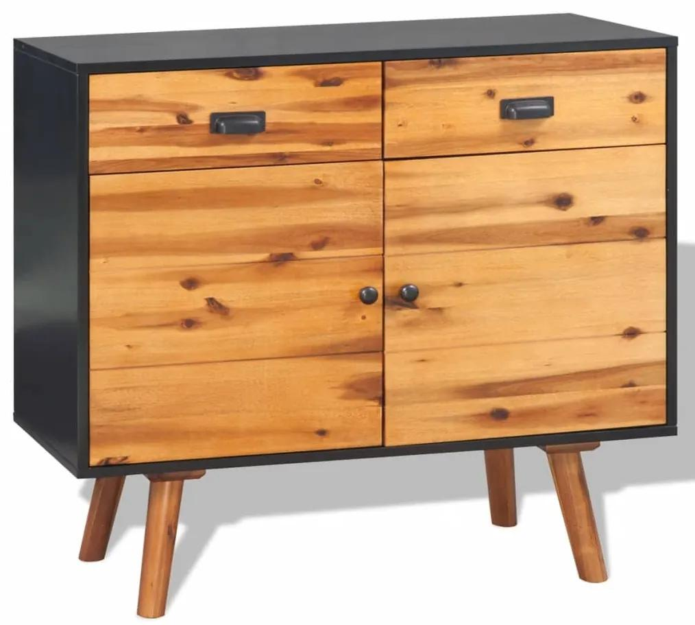 245480 vidaXL Servantă din lemn masiv de acacia 90x33,5x83 cm
