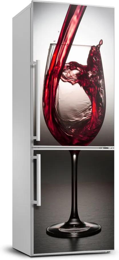 Autocolant frigider acasă Vin rosu