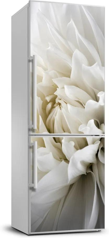 Autocolant pe frigider Dahlia alb
