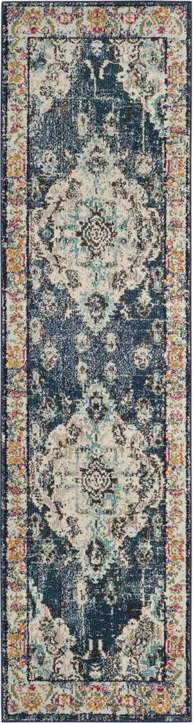 Covor Oriental & Clasic Mila, Albastru, 66x244