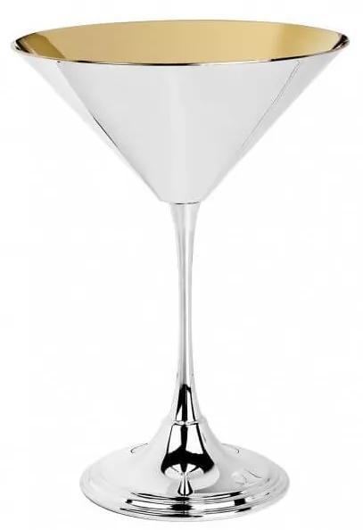 Pahar argint masiv AG925 Martini placat cu aur