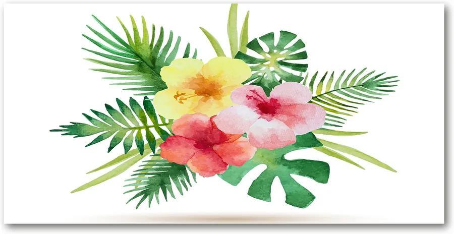 Tablou sticlă Flori hawaii