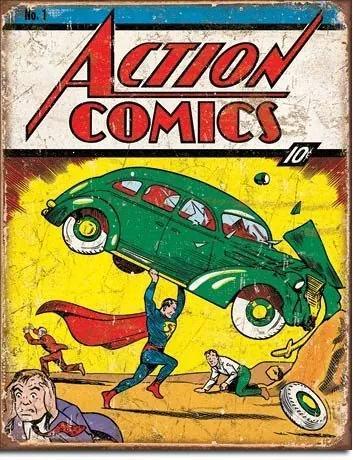Placă metalică - Action Comics (superman)