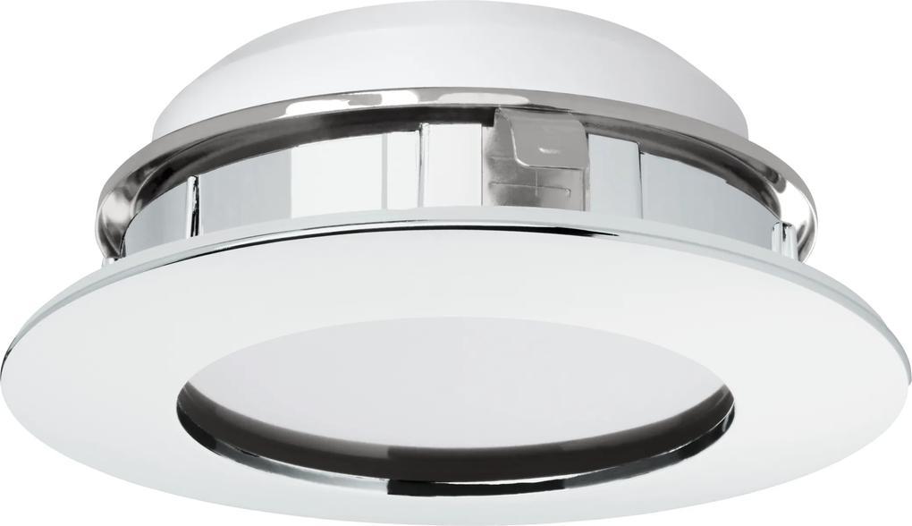 Spot incastrat PINEDA, 95868, LED, 12W, Ø 102, 1000 Lumeni, 3000 K (Calda), Plastic / Crom
