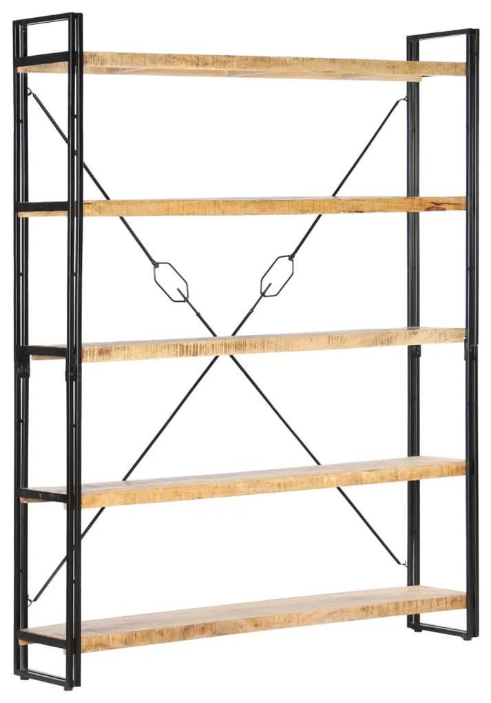 286580 vidaXL Bibliotecă cu 5 rafturi, 140 x 30 x 180 cm, lemn masiv de mango