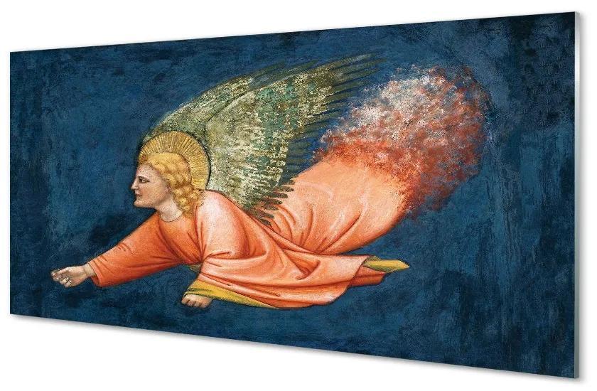 Tablouri pe sticlă Arta cu aripi înger