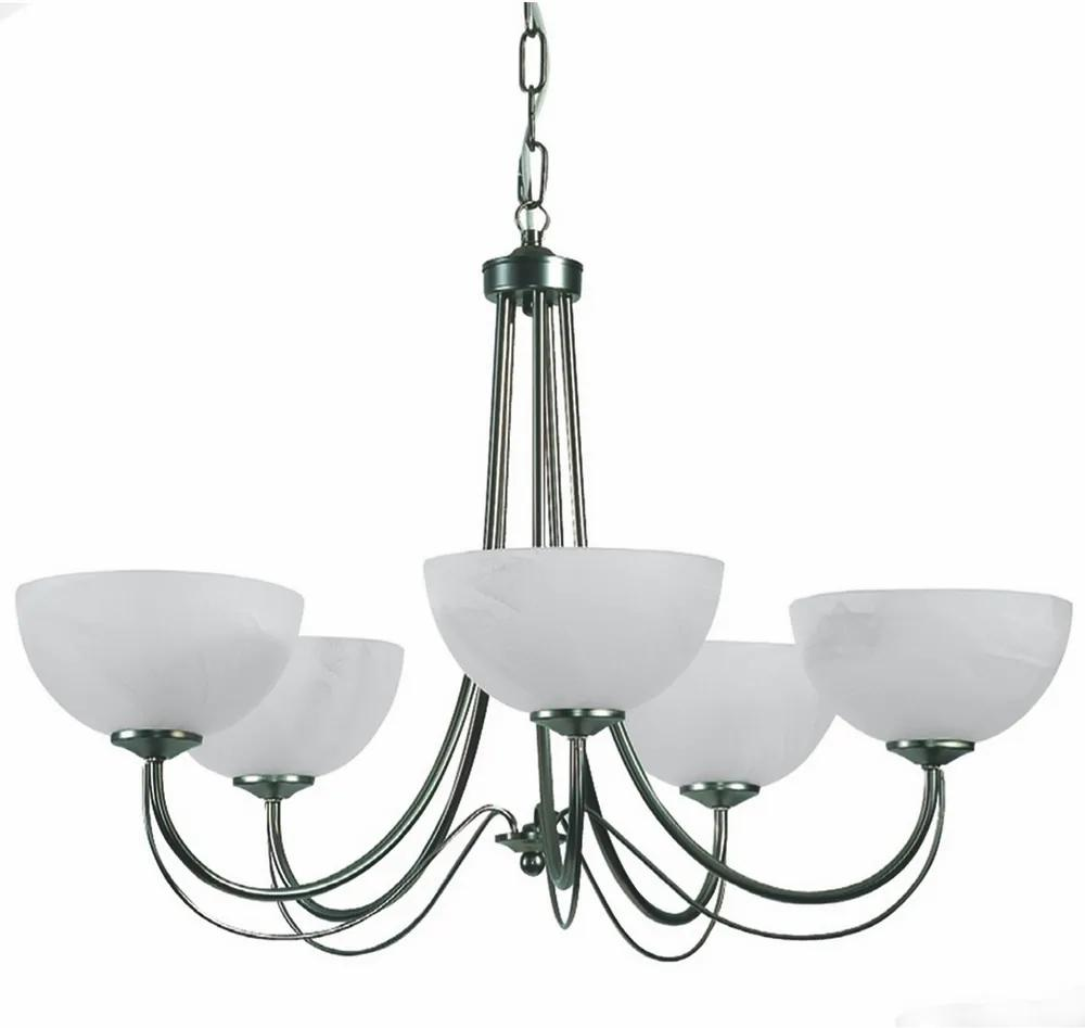 Top Light 80/5/2/Č - Lustră pe lanț MURANO 5xE14/60W/230V