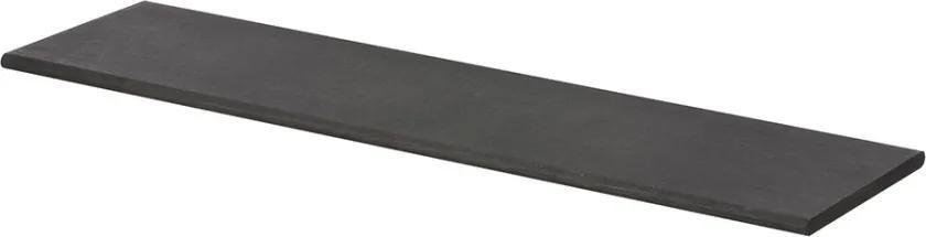Raft pentru perete negru din lemn de stejar Ollaj Ferm Living