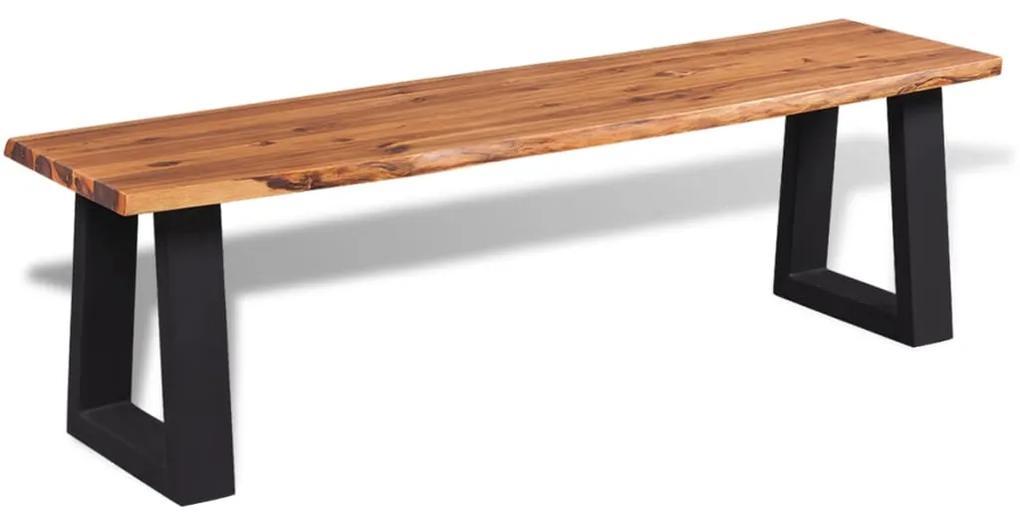 245687 vidaXL Bancă din lemn masiv de salcâm 145 cm