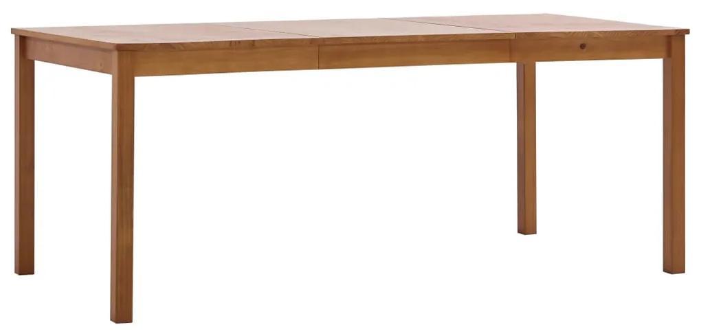 283404 vidaXL Masă de bucătărie, maro miere, 180 x 90 x 73 cm, lemn de pin