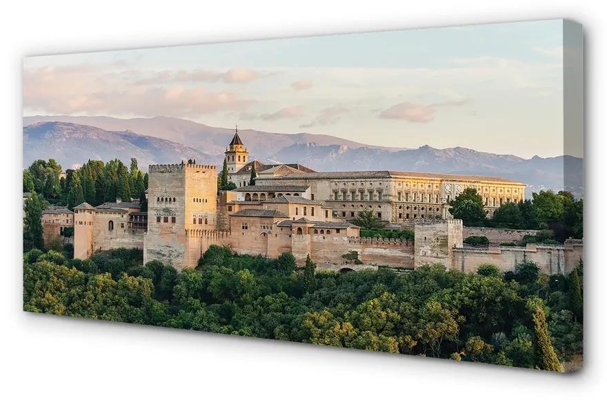 Tablouri canvas Tablouri canvas Spania Castelul de pădure de munte