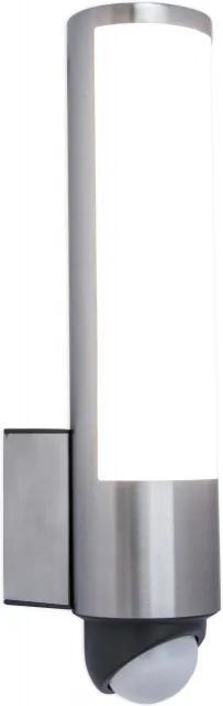 Lutec 5267103001 LED cu senzor de miscare LEDA oțel inoxidabil LEXTAR 2835 1200lm 3000K IP44 A+