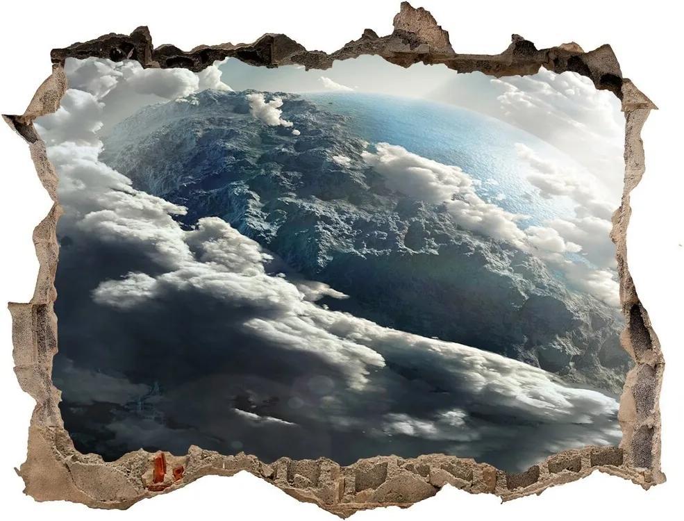 Autocolant gaură 3D Planeta pământ