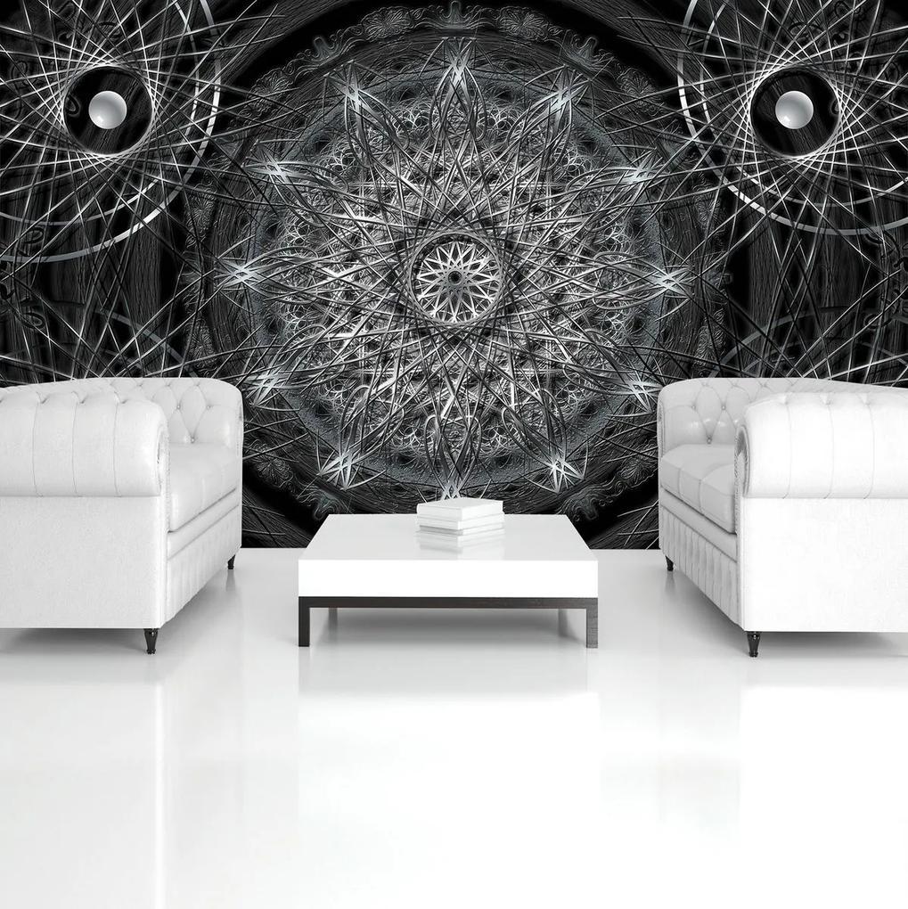 Fototapet - Abstracție argintie (152,5x104 cm), în 8 de alte dimensiuni noi