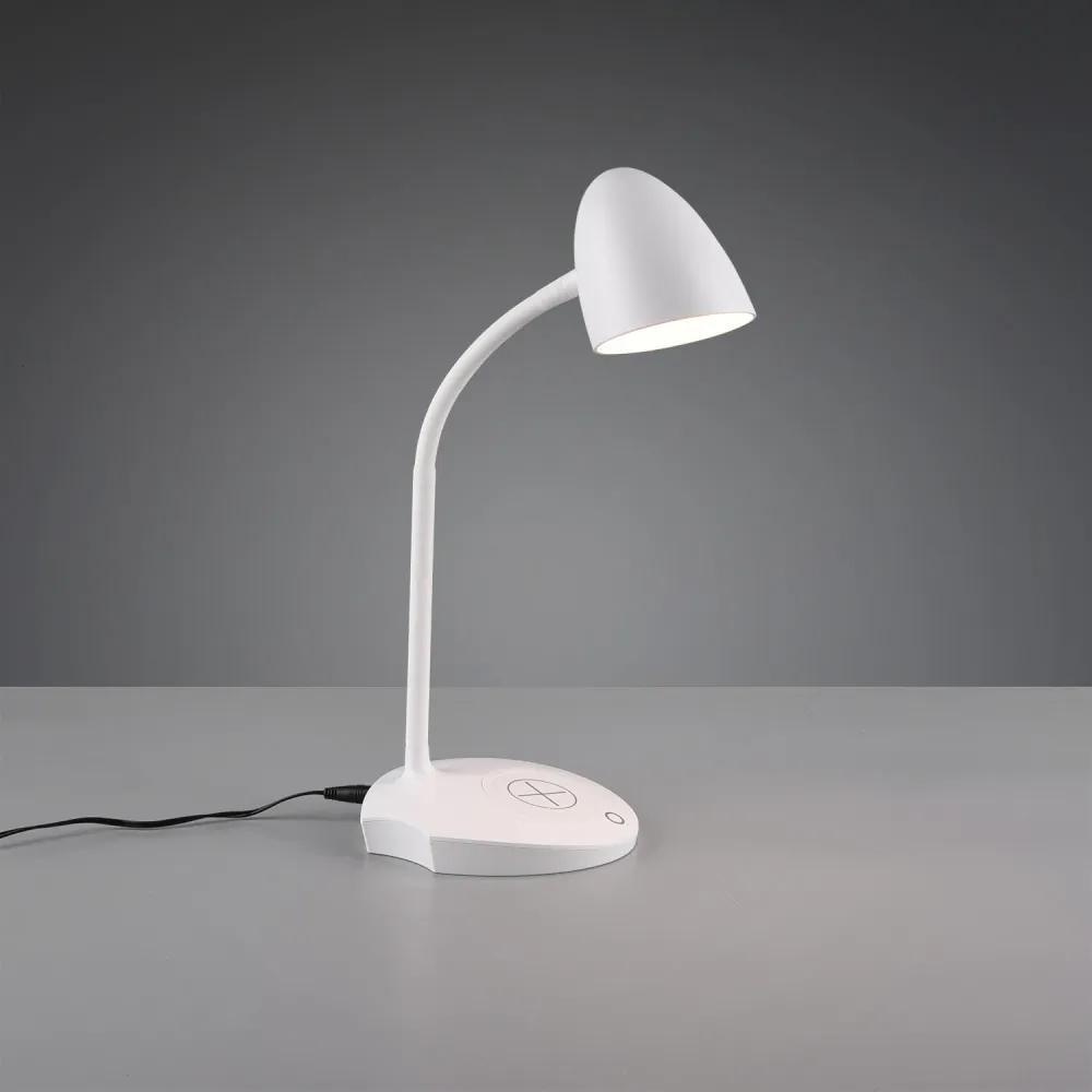 Trio R59029901 Lămpi de birou LOAD alb plastic incl. 4W LED, 3000K, 480Lm 480lm IP20 A++
