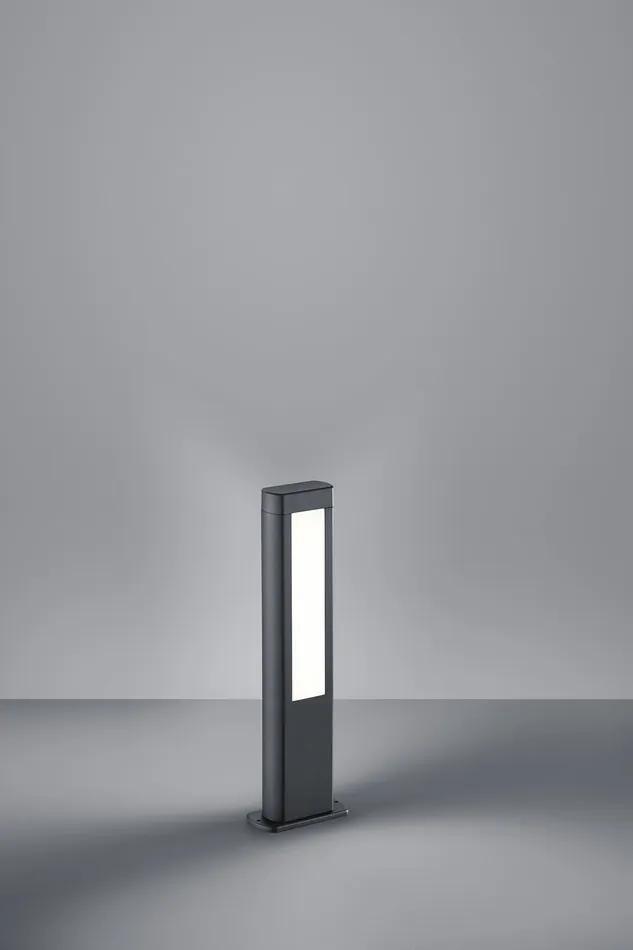 Trio Pole 521660242 Stalpi și lampadare de exterior antracit alb LED - 2 x 5,5W 50 x 15,5 x 7,5 cm