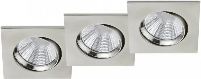 Trio 650410307 Spoturi incastrate - tavan Pamir nichel mat metal incl. 3 x SMD, 5,5W, 3000K, 345Lm 345lm IP23 A