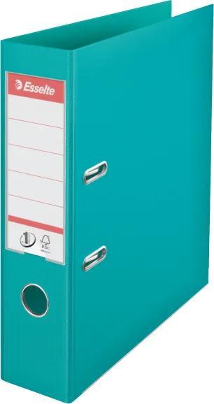 Biblioraft plastifiat ESSELTE 7.5cm turquoise standard