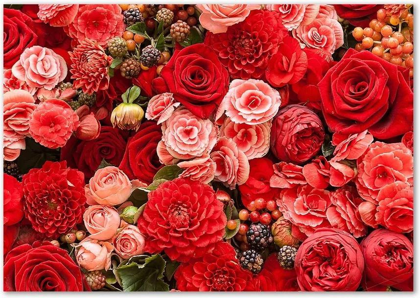 Imagine de sticlă Flori roșii