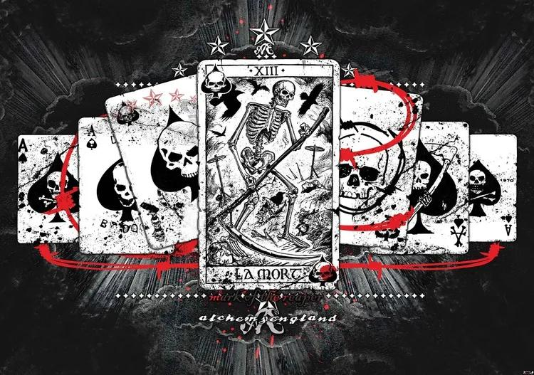 Cards Skull Tarot Fototapet, (152.5 x 104 cm)