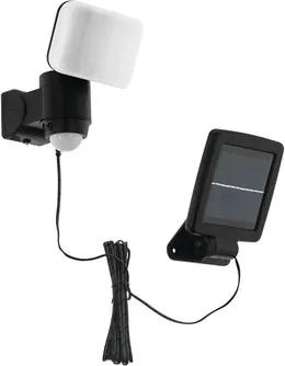 Kit solar cu proiector LED si senzor de miscare Casabas 5,4W 230 lumeni, plastic negru