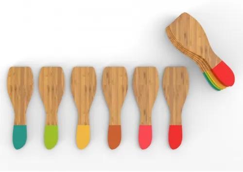 Set 6 Spatule Bambus, Multicolor