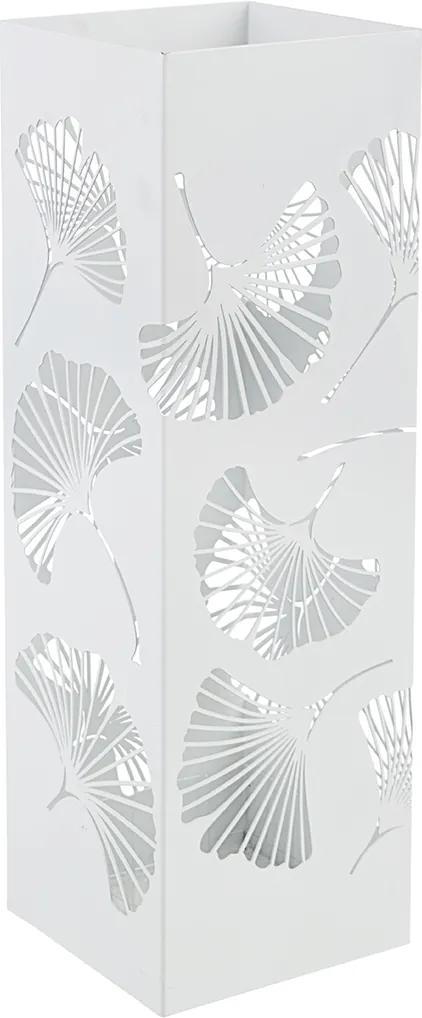 Suport umbrele metal alb Ginkgo 16 cm x 16 cm x 48 h