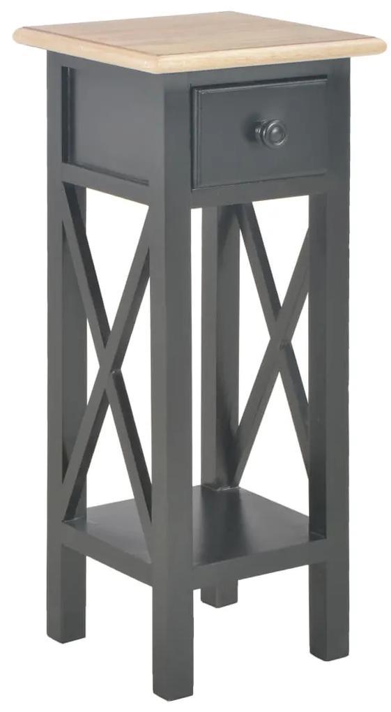 280059 vidaXL Masă laterală, negru, 27 x 27 x 65,5 cm, lemn