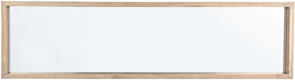 Oglinda decorativa perete cu rama lemn natur Tiziano 32 cm x 5 cm x 122 h