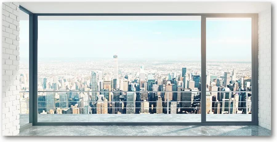 Pictura pe sticlă acrilică Vedere a orașului