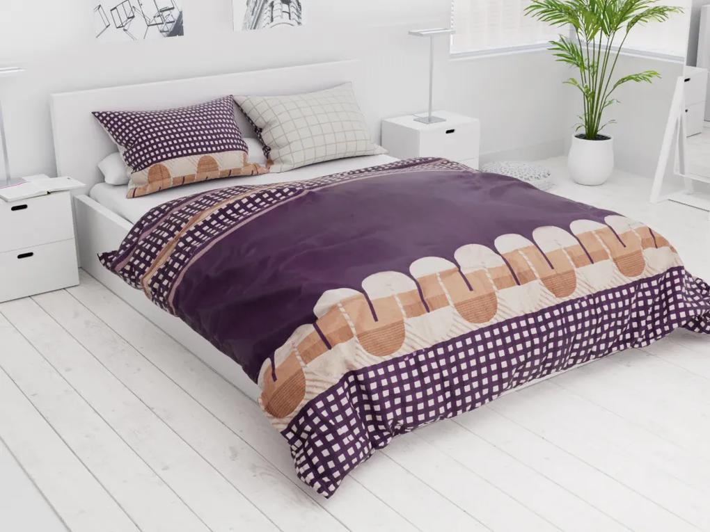 Lenjerie de pat bumbac franceza Poras violet