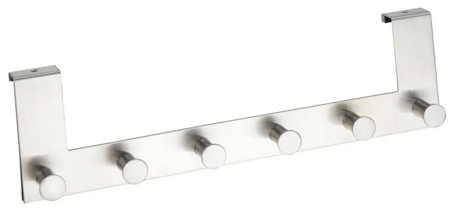 Cuier suspendat pentru ușă cu 6 cârlige Wenko Celano Matt, argintiu