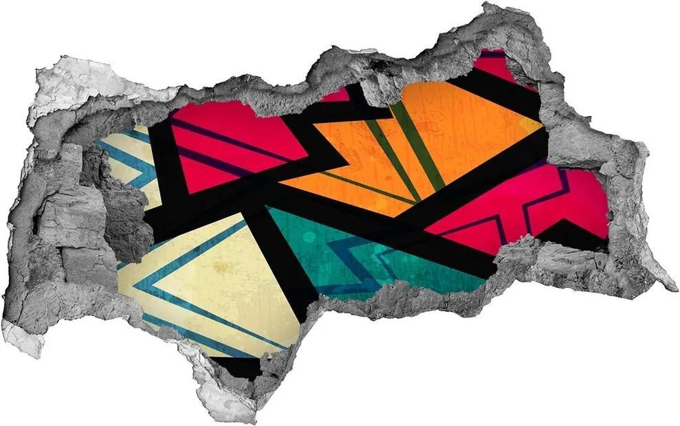 Autocolant un zid spart cu priveliște Fundal geometrică