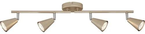 Sina spoturi Smart Gold GU10 4x5W, becuri LED incluse, auriu pal/chihlimbar