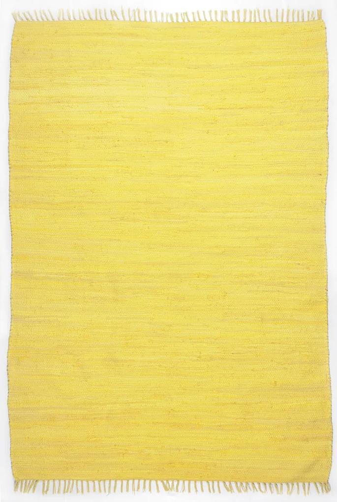Covor Unicolor Dondo, Bumbac, Galben, 40x60