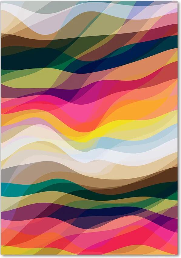 Tablou pe acril Valuri abstracte