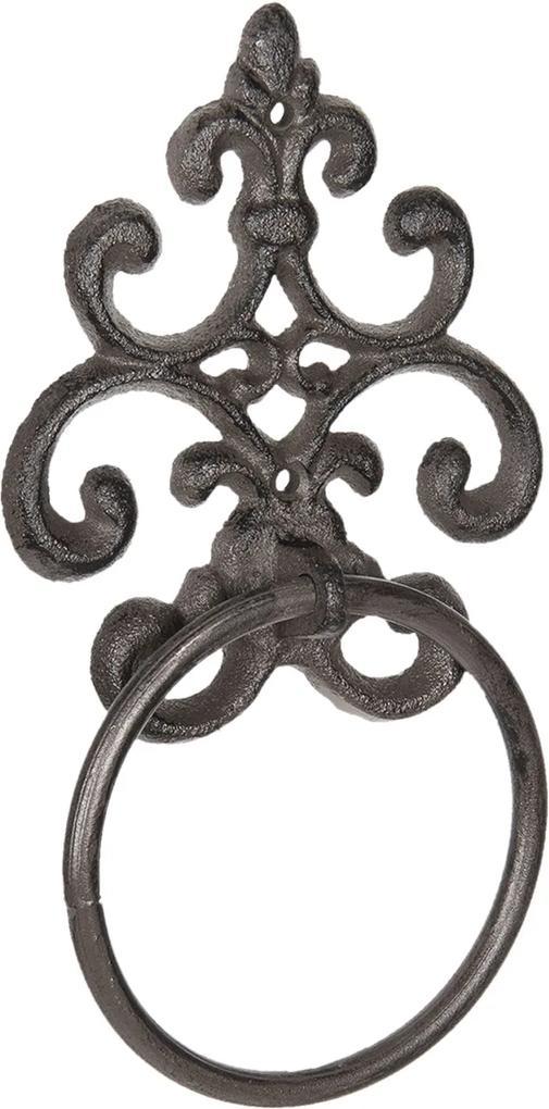Suport fier forjat maro pentru prosop 13x3x24 cm