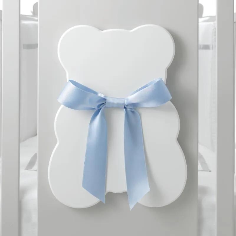 Cabinet 3 sertare Bubu Ursuleti cu Fundite Colorate, Design Italian, Erbesi, Alb & Bleu