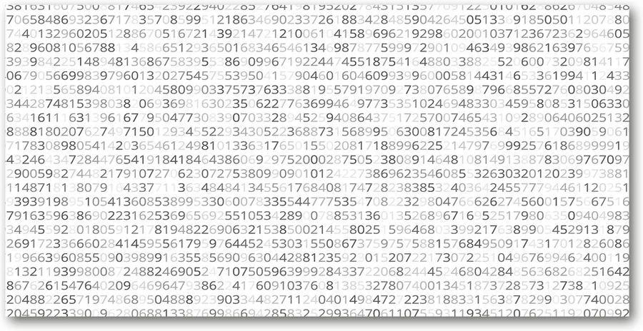 Tablou Printat Pe Sticlă Cod binar