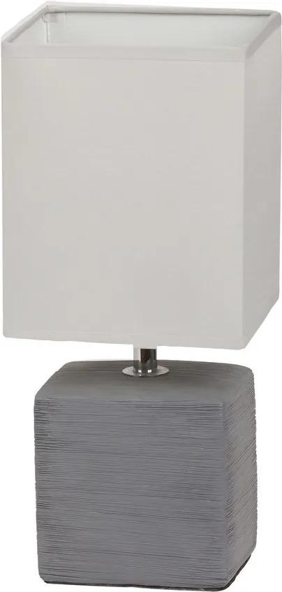 Rábalux 4458 Lampa de masa de noapte gri alb E14 1x MAX 40W 135 x 300 mm