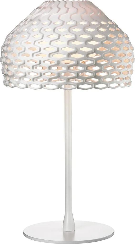 Tatou - Lampă de masă cu abajur alb perforat