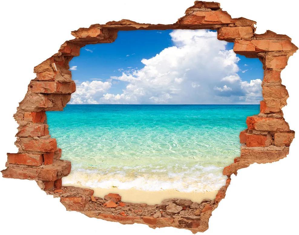 Fototapet un zid spart cu priveliște Paradise Beach