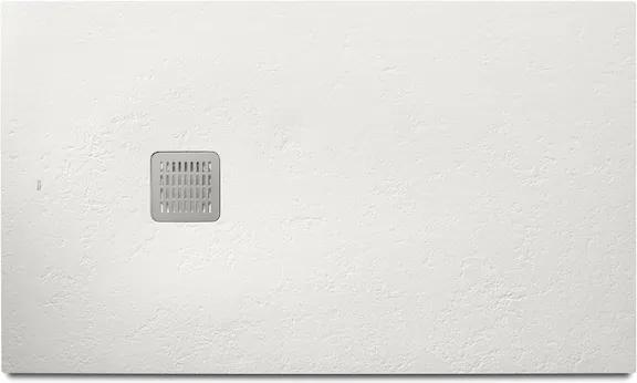 Cadita de dus Roca Terran 140x70cm, Superslim Stonex, alb