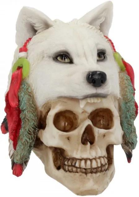 Statueta craniu saman Vanatorul de Spirite 23 cm