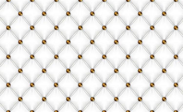 White Pattern Checkered Fototapet, (104 x 70.5 cm)