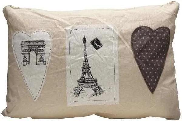 Perna Decorativa Paris Love, 35x50 cm