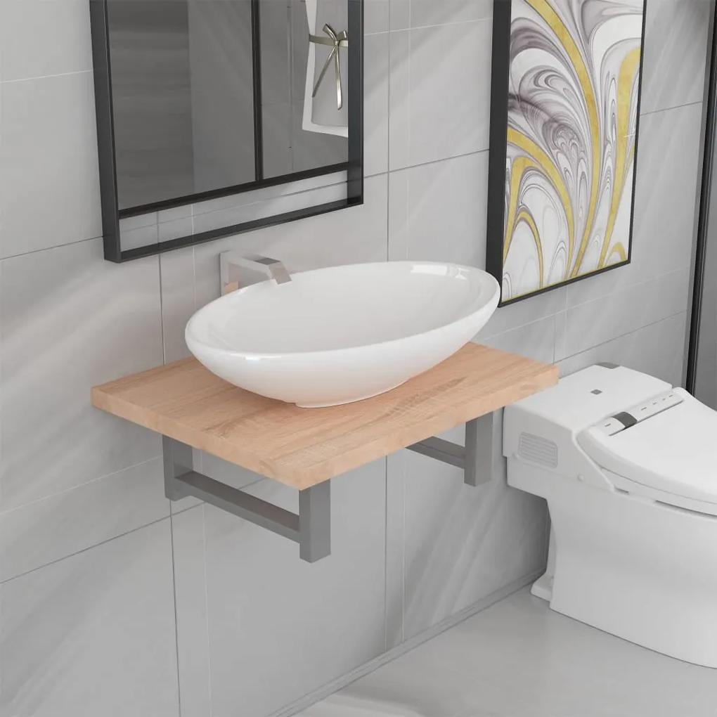 279312 vidaXL Set mobilier de baie din două piese